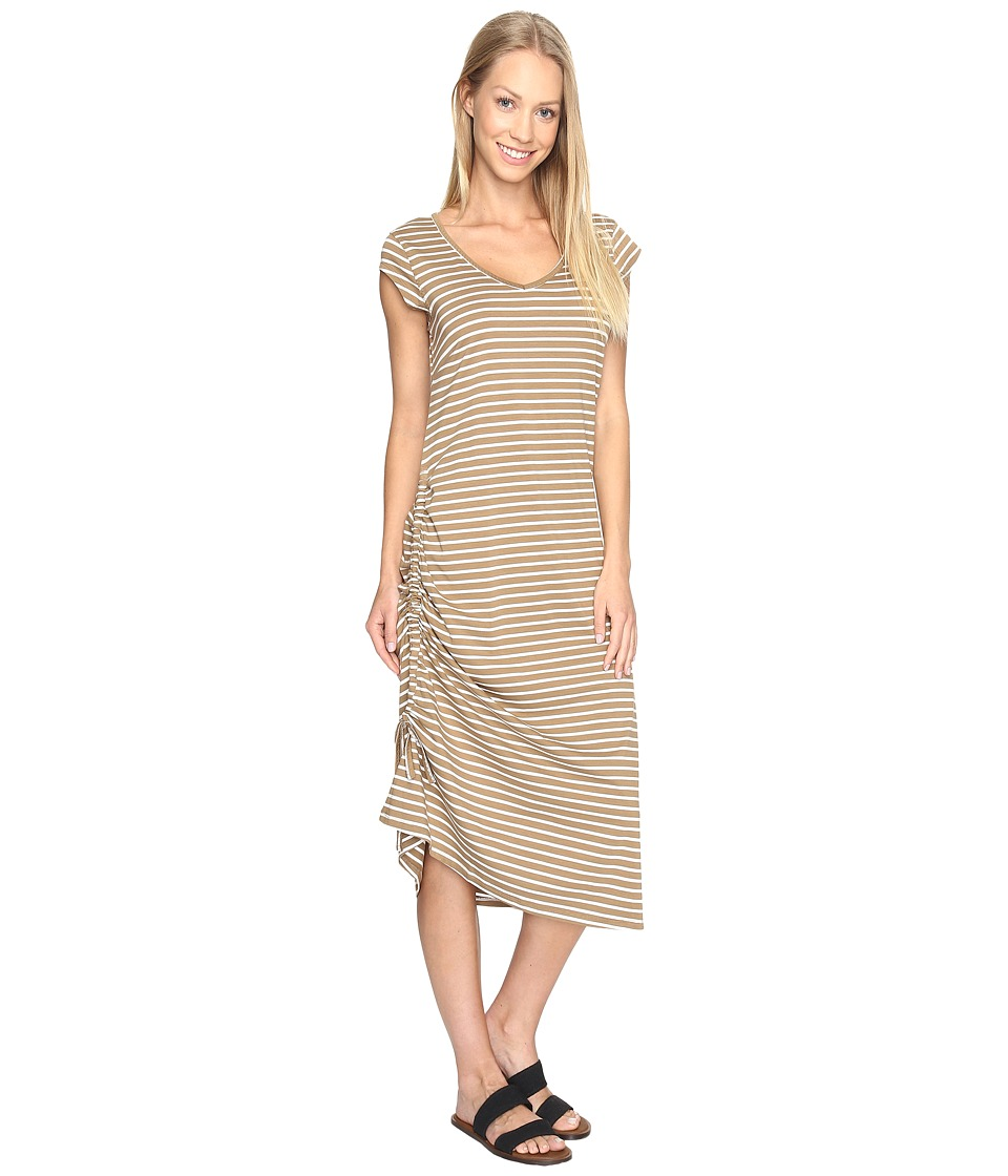 Toad&Co Muse Dress (Honey Brown Stripe) Women