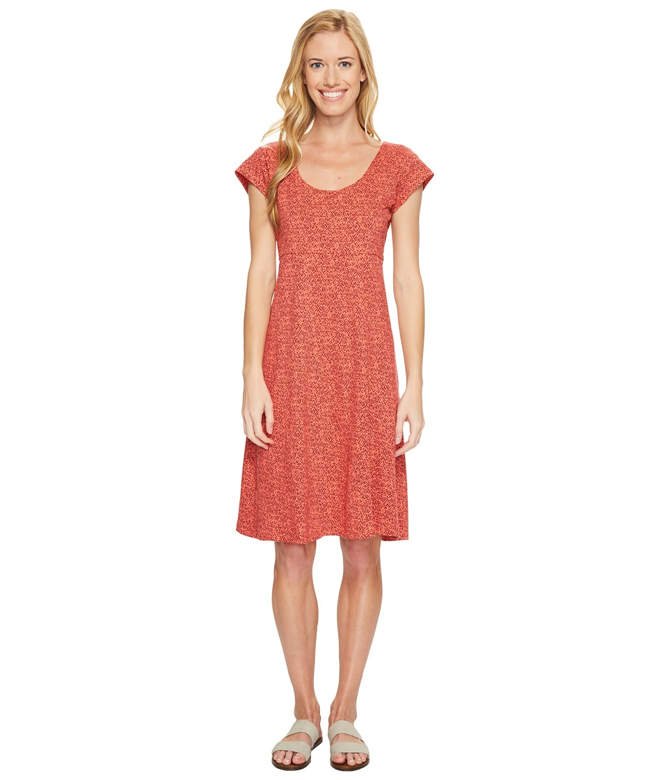 Toad&Co - Nena Dress (Spiced Coral Geo Print) Women's Dress
