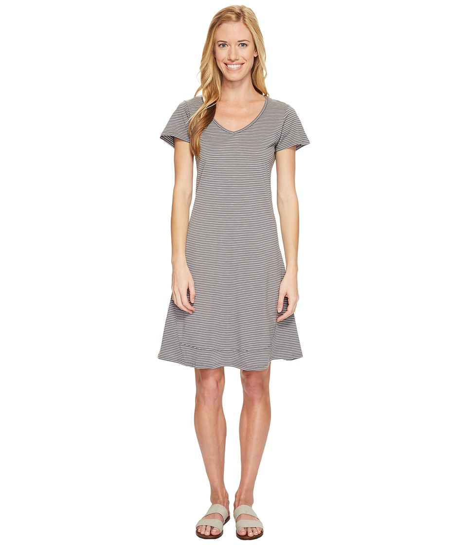 Toad&Co - Marley S/S Dress (Smoke Lean Stripe) Women's Dress