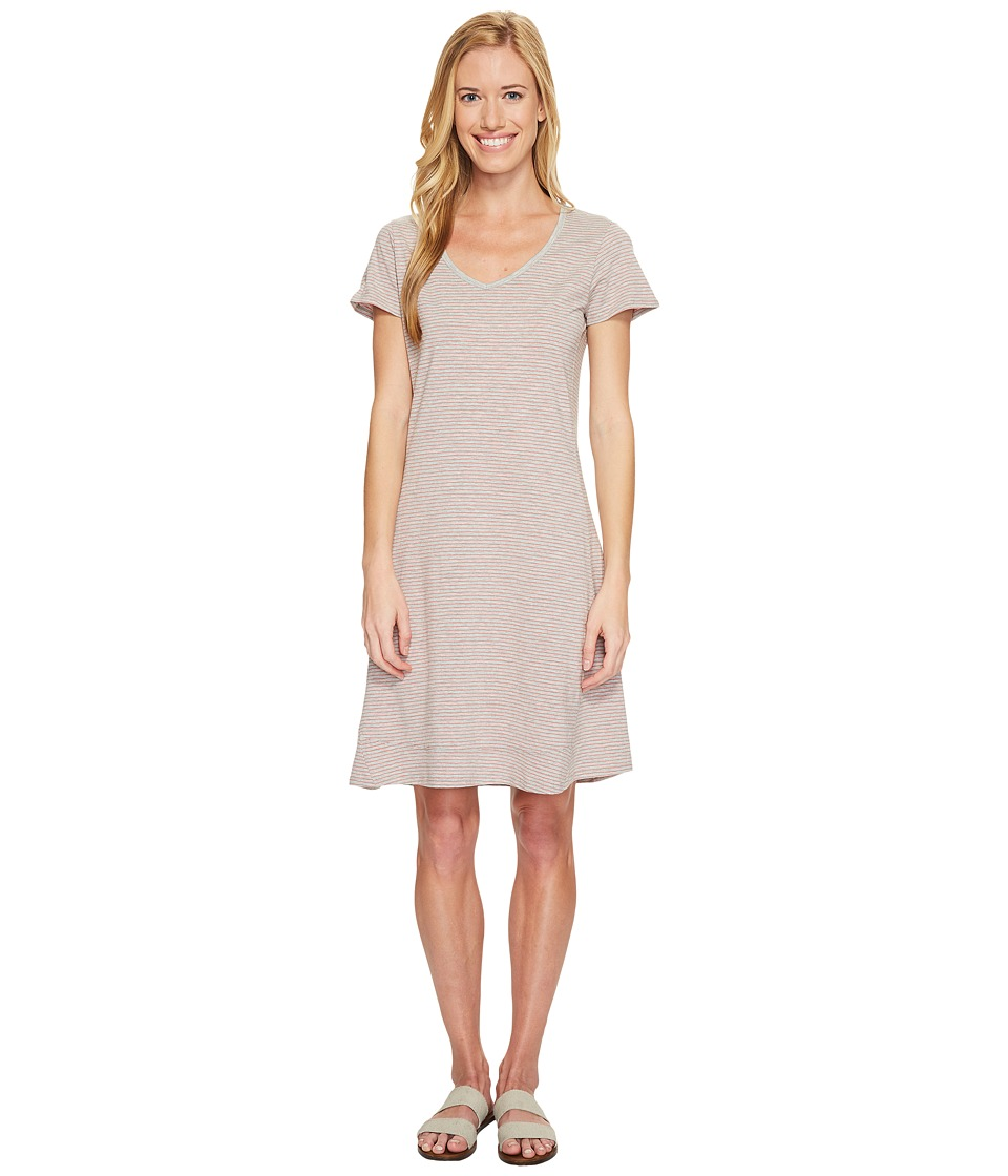 Toad&Co Marley S/S Dress (Heather Grey Stripe) Women