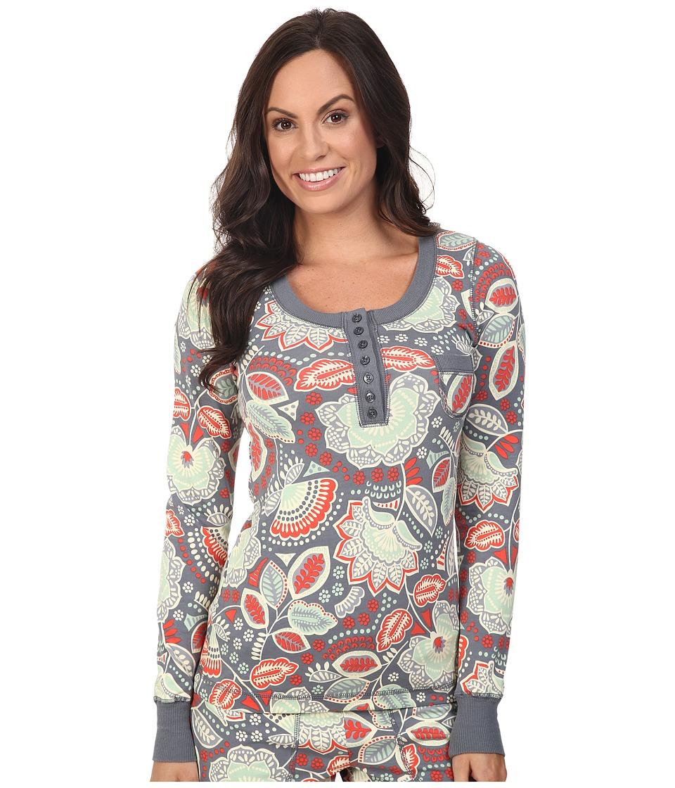 Vera Bradley - Henley Pajama Top (Nomadic Floral) Women's Pajama