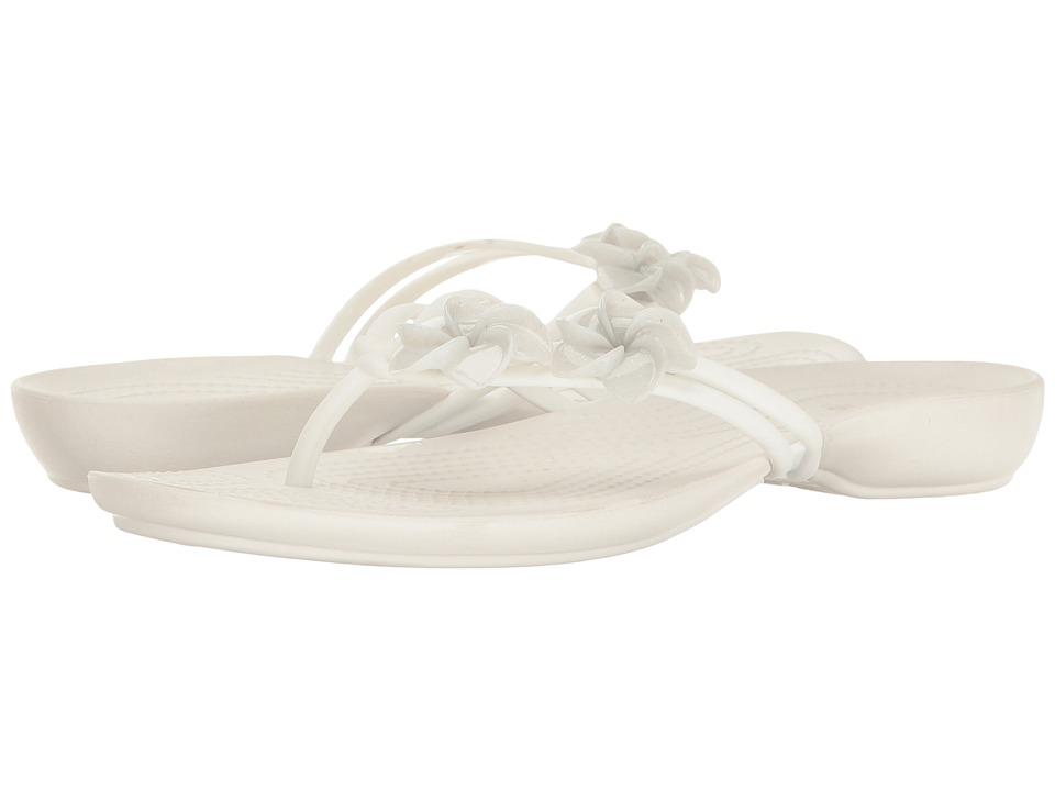 Crocs - Isabella Embellished Flip (Oyster) Women's Sandals
