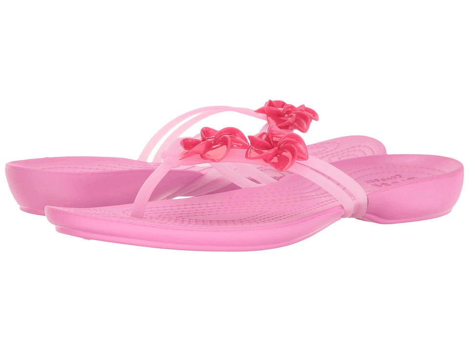 Crocs - Isabella Embellished Flip (Candy Pink/Party Pink) Women's Sandals
