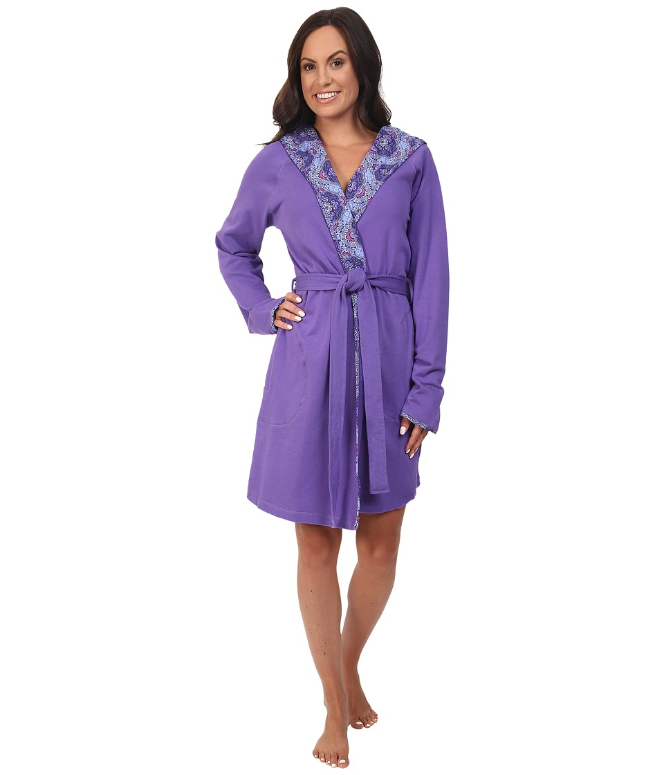 Vera Bradley - Knit Robe (Purple/Lilac Tapestry) Women's Robe