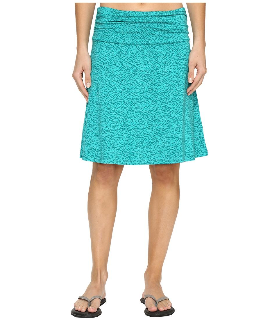 Toad&Co - Chaka Skirt (Turquoise Cove Geo Print) Women's Skirt