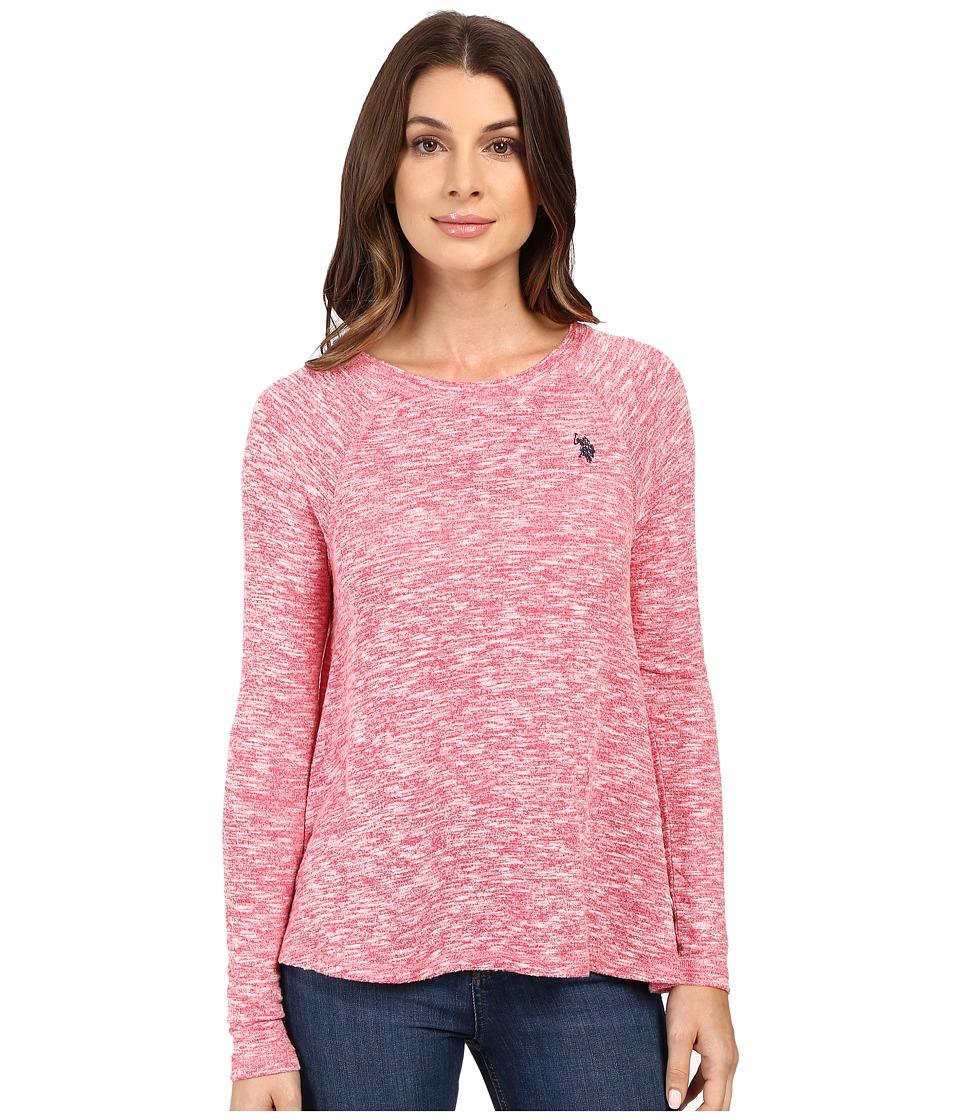 U.S. POLO ASSN. - Long Sleeve Hatchi T-Shirt Sweater (Azalea Combo) Women's Sweater