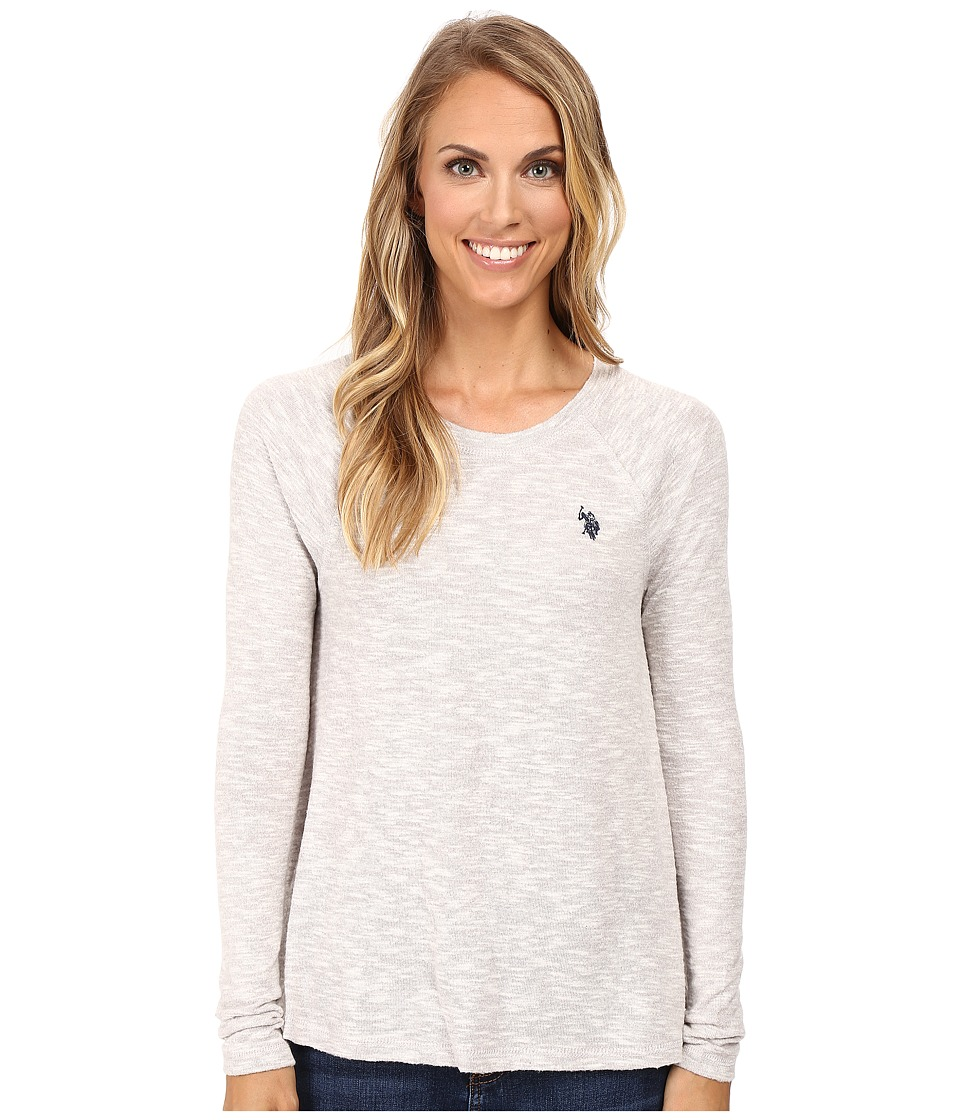 U.S. POLO ASSN. - Long Sleeve Hatchi T-Shirt Sweater (Ashes of Roses Combo) Women's Sweater
