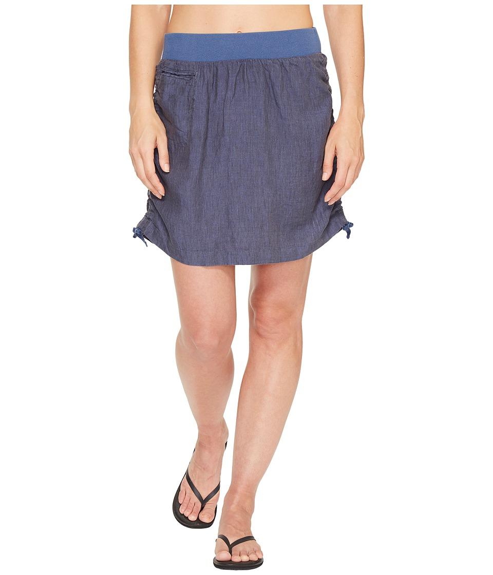 Toad&Co Lina Adjustable Skirt (Indigo) Women
