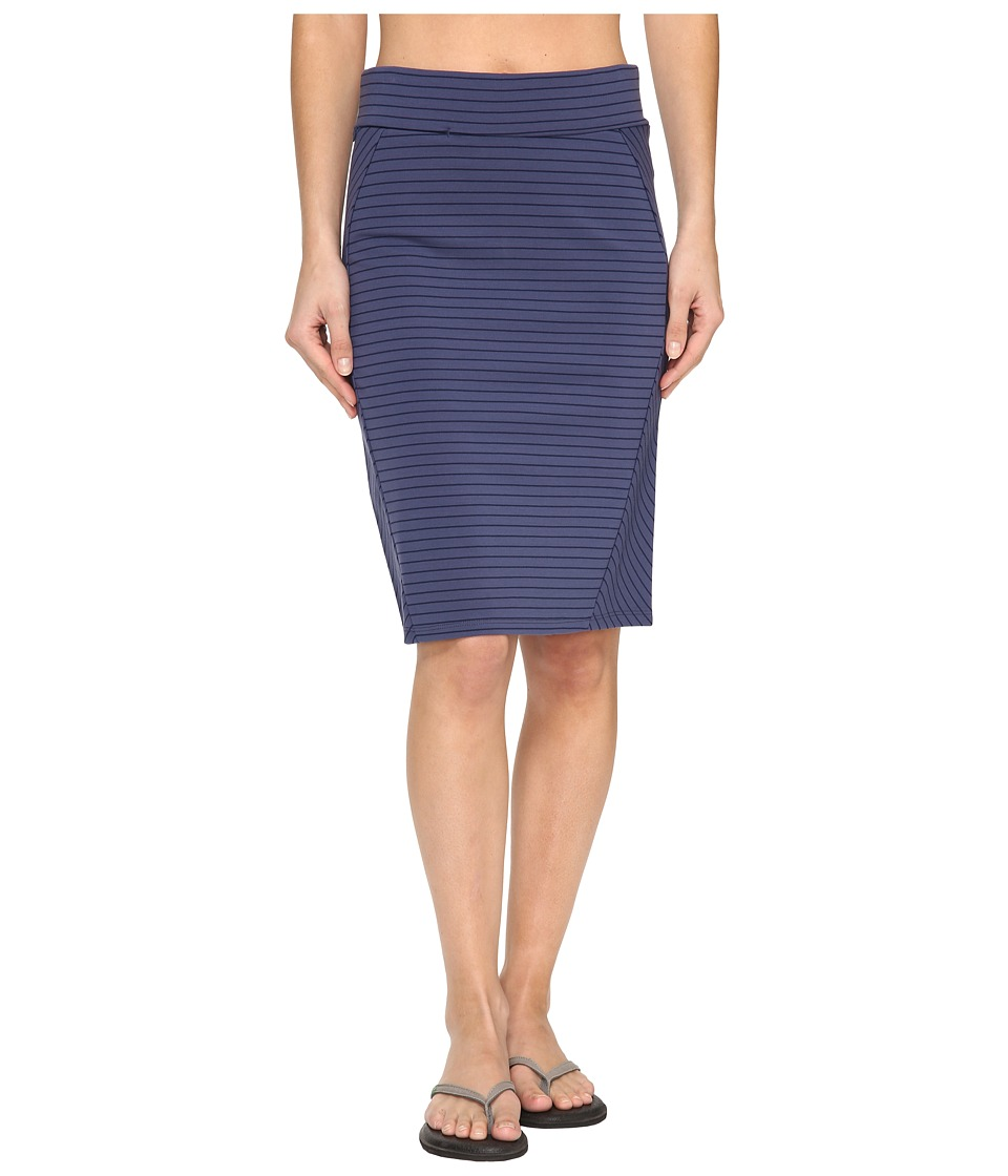 Toad&Co Transita Skirt (Indigo Thin Stripe) Women