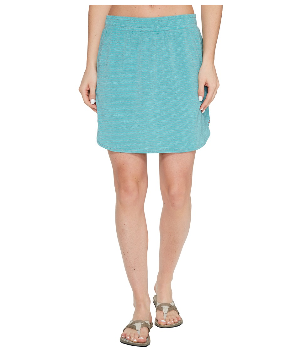 Toad&Co Swifty Trail Skirt (Turquoise Cove Stripe) Women