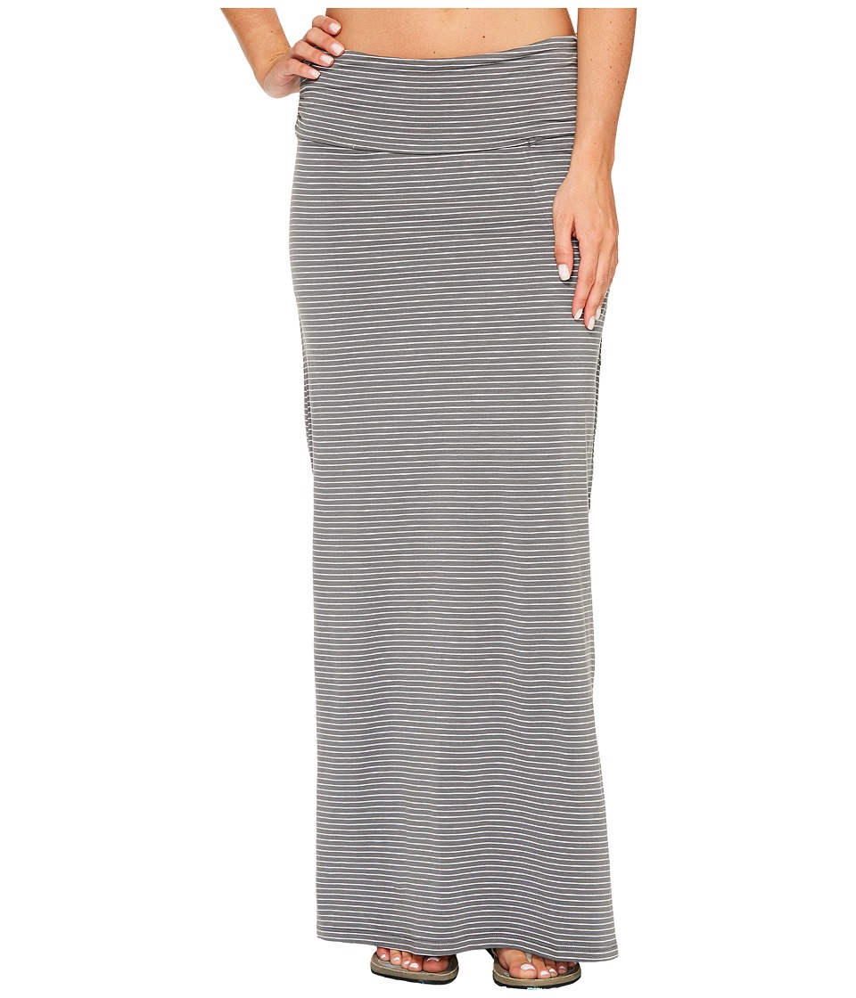 Toad&Co - Montauket Long Skirt (Smoke Lean Stripe) Women's Skirt