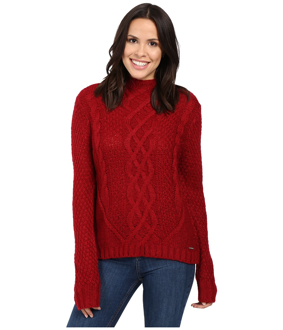 U.S. POLO ASSN. - Funnel Neck Sweater (Rio Red) Women's Sweater