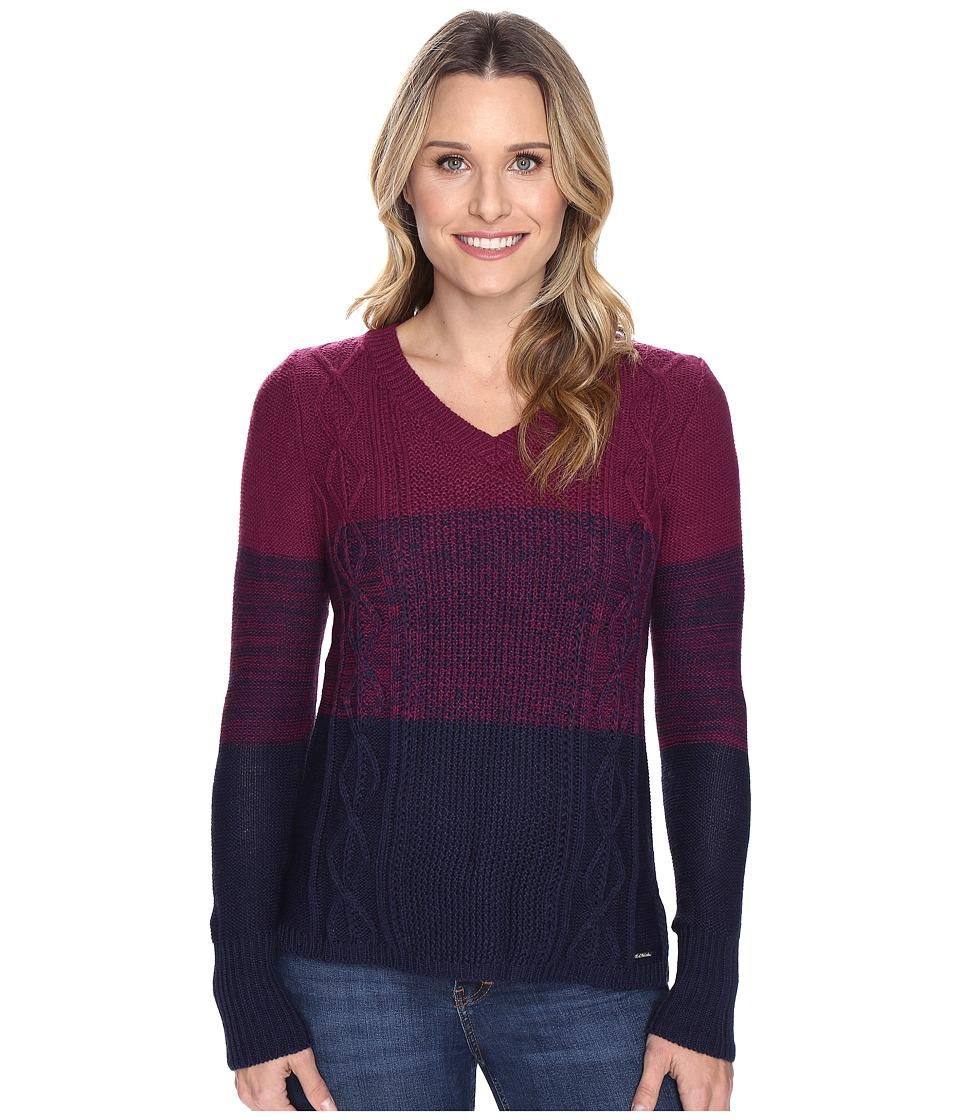 U.S. POLO ASSN. - Gradient Striped Sweater (Tribal Navy Combo) Women's Sweater