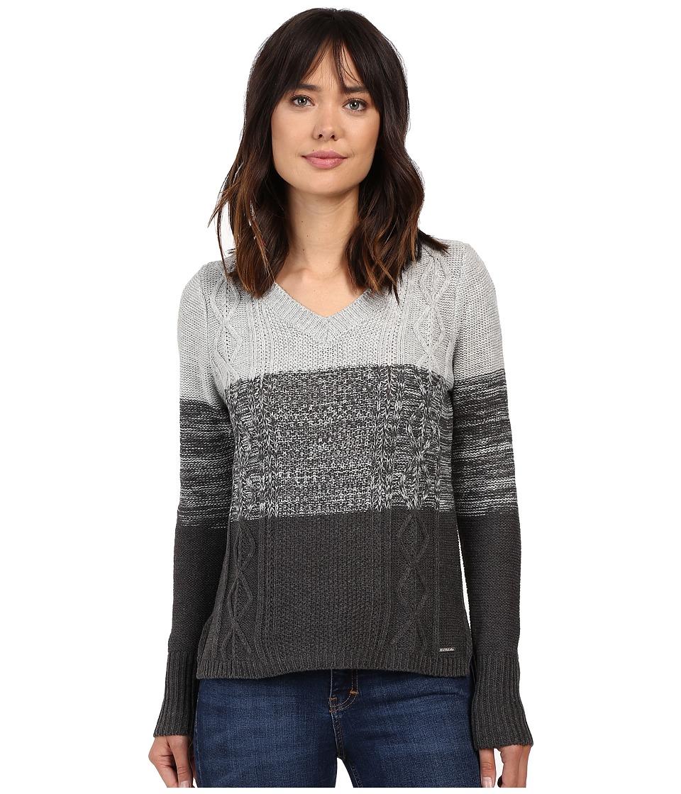 U.S. POLO ASSN. - Gradient Striped Sweater (Charcoal Heather Grey Combo) Women's Sweater