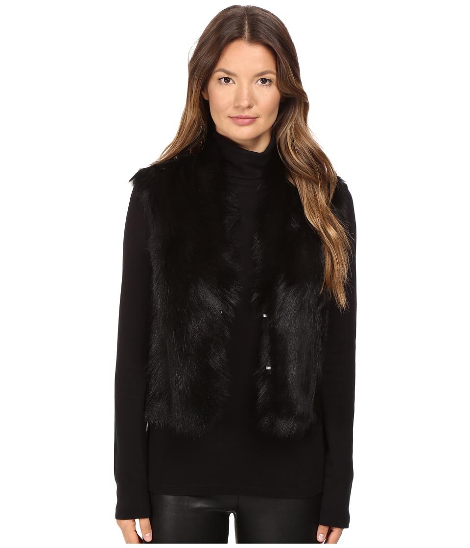LAMARQUE - Orla Reversible Shearling Vest (Black) Women's Vest