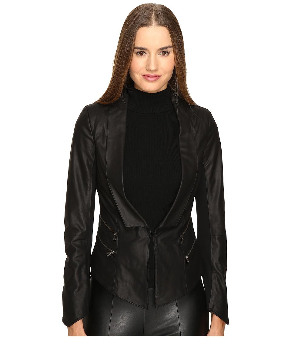 LAMARQUE - Cersei Leather Jacket (Black) Women's Coat
