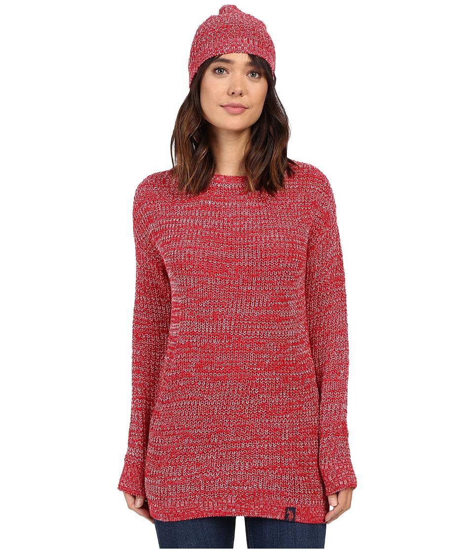 U.S. POLO ASSN. - Crew Neck with Beanie (Crimson Combo) Women's Sweater