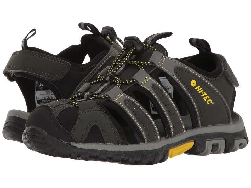 Hi-Tec Kids - Cove Jr (Toddler/Little Kid/Big Kid) (Black/Charcoal/Super Lemon) Boys Shoes