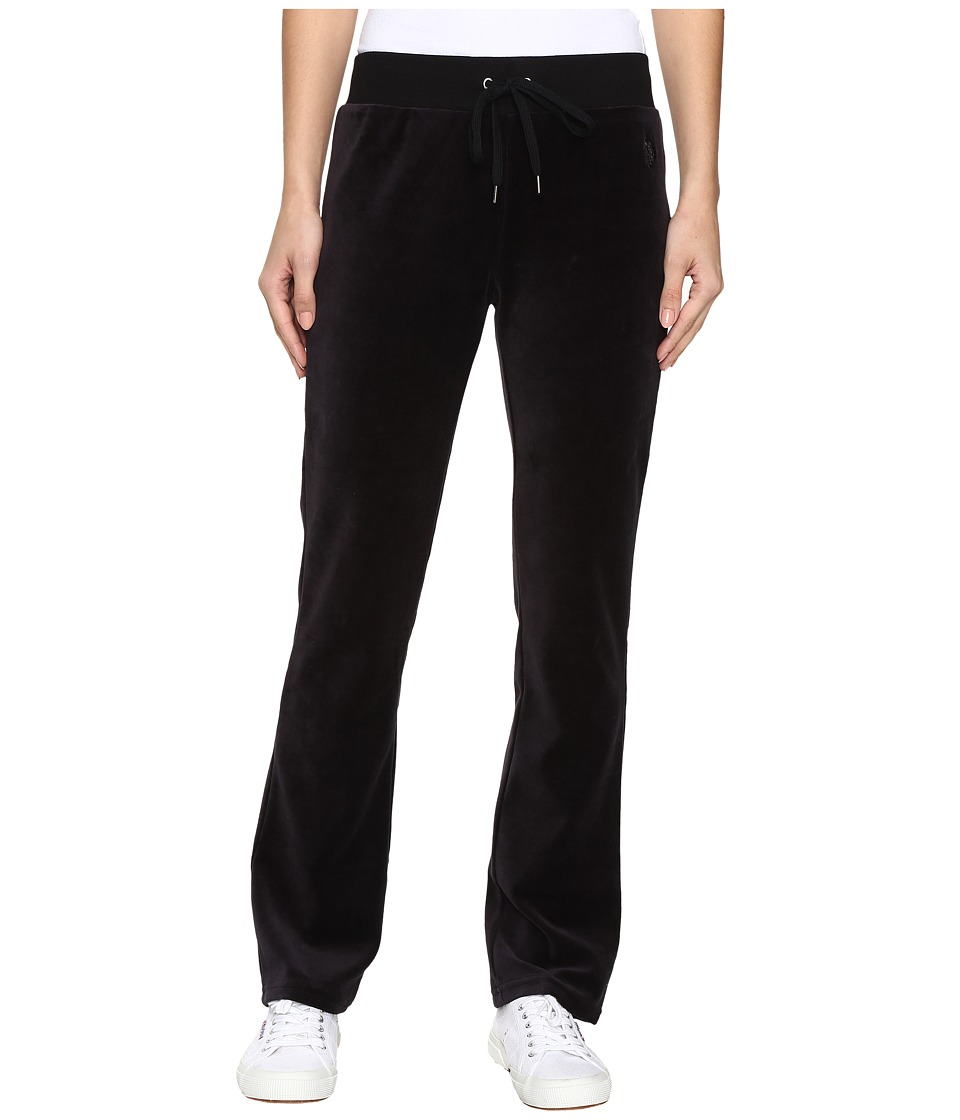 U.S. POLO ASSN. - Velour Pants (Black Combo) Women's Casual Pants