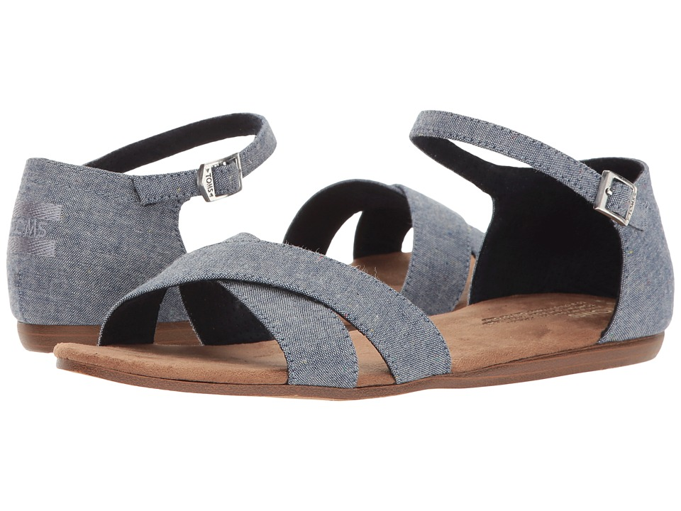 TOMS - Correa Sandal (Blue Multi Speckle Chambray) Women's Sandals