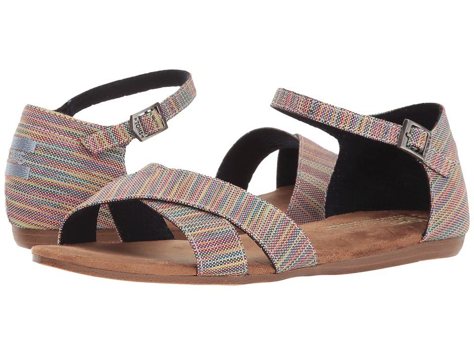 TOMS - Correa Sandal (Blue Aster Multi Space Dye) Women's Sandals