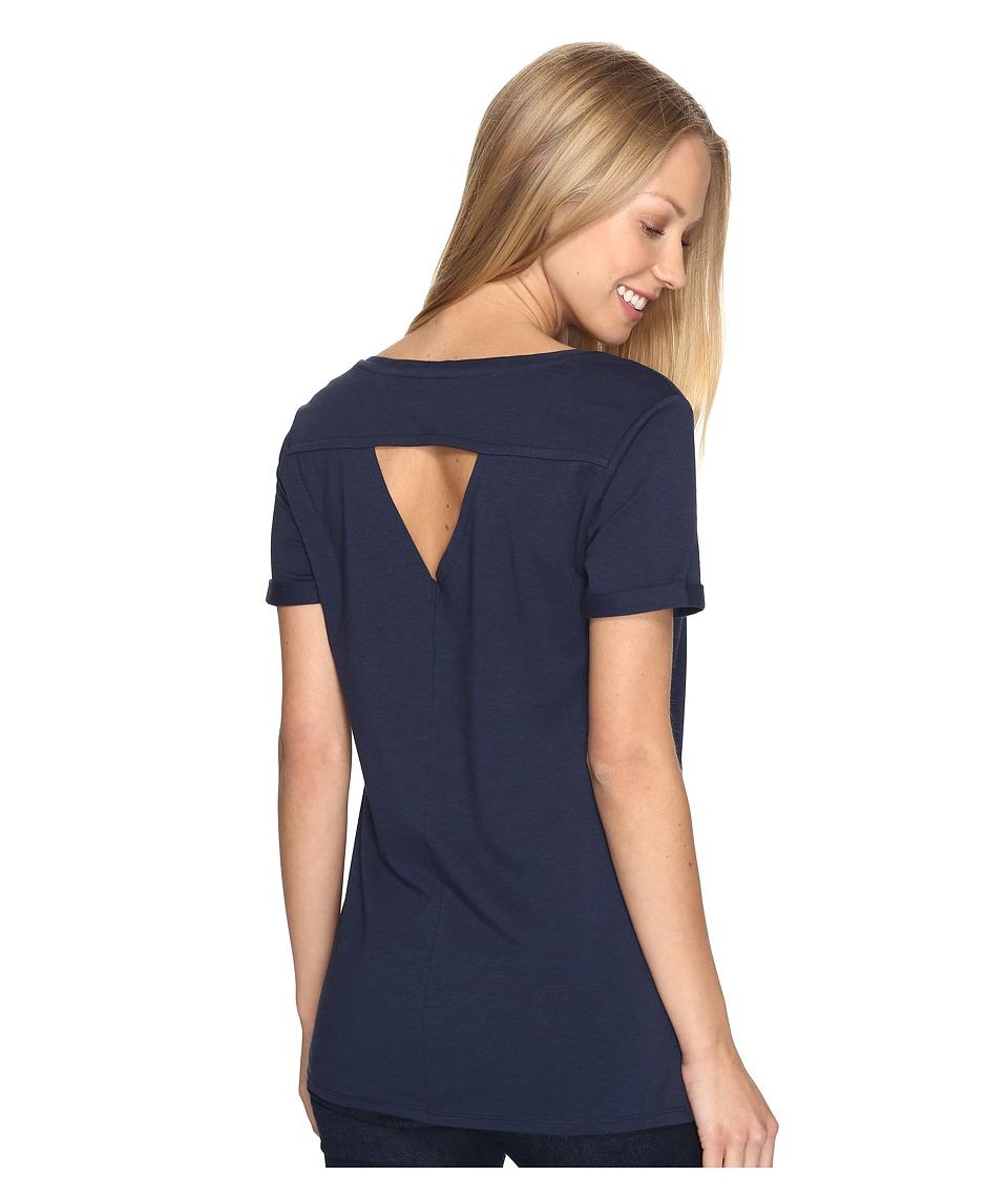 Toad&Co - Ventana Short Sleeve Tee (Deep Navy) Women's T Shirt