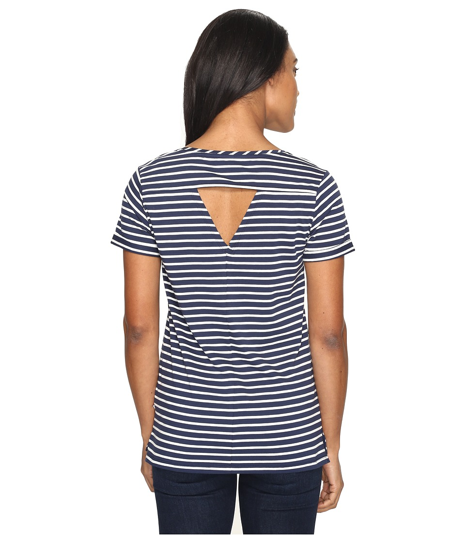 Toad&Co - Ventana Short Sleeve Tee (Deep Navy Balanced Stripe) Women's T Shirt