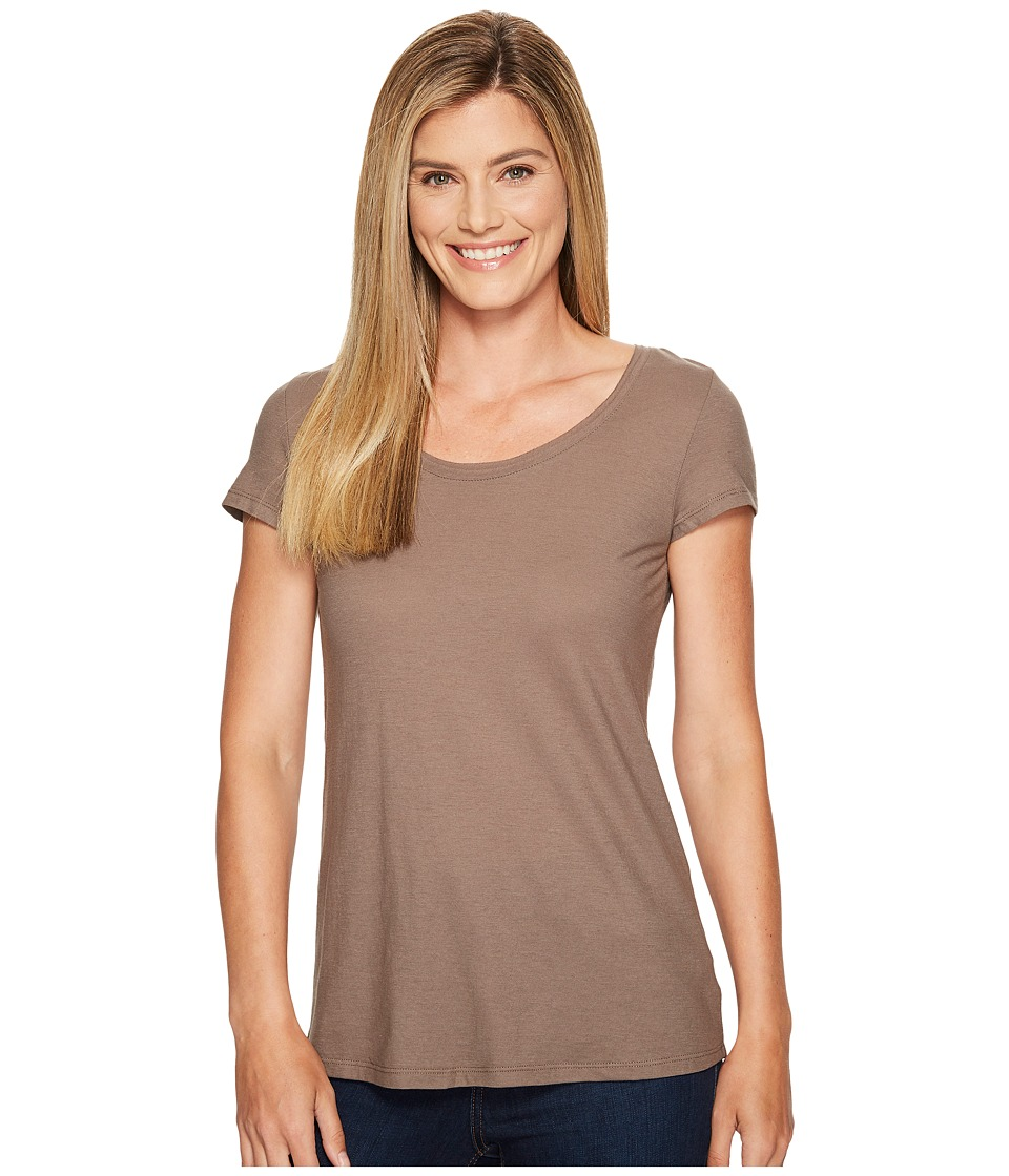 Toad&Co - Tissue Crossback Short Sleeve Tee (Falcon Brown) Women's T Shirt
