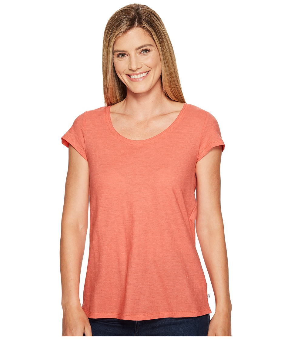 Toad&Co - Tissue Crossback Short Sleeve Tee (Spiced Coral) Women's T Shirt
