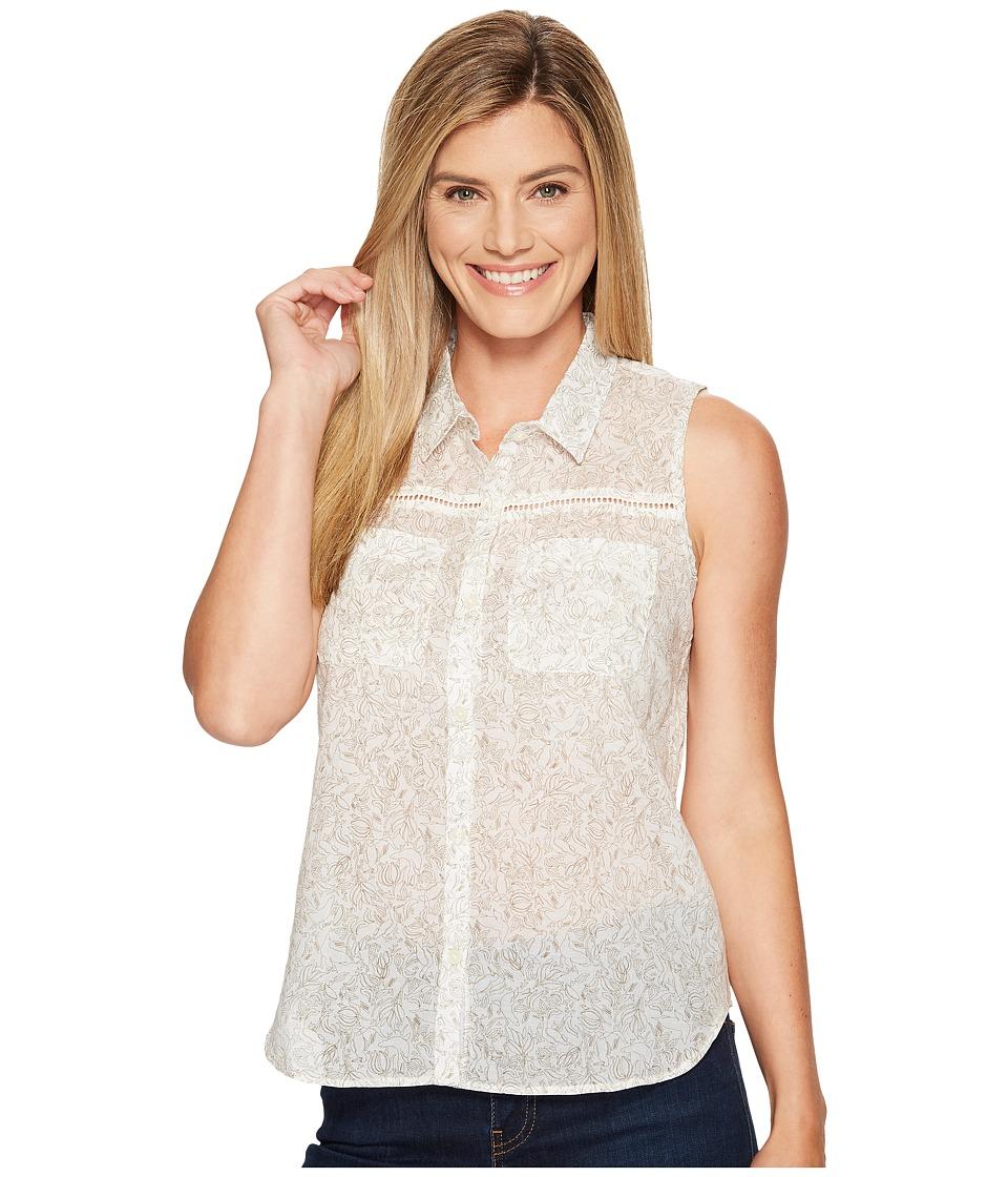 Toad&Co - Airbrush Sleeveless Deco Shirt (Egret Galapagos Print) Women's Sleeveless