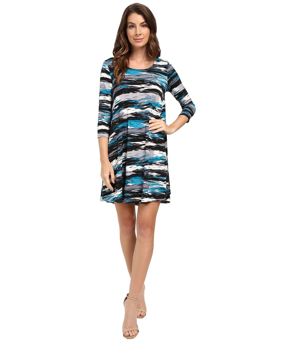 Karen Kane 3/4 Sleeve Maggie Trapeze Dress (Print) Women