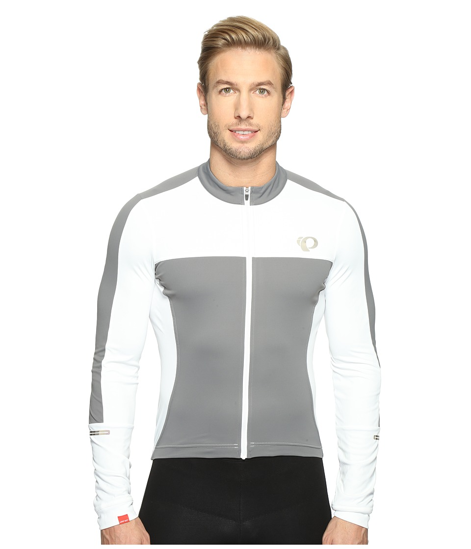 Pearl Izumi - Elite Escape Long Sleeve Jersey (White/Smoked Pearl) Men's Clothing