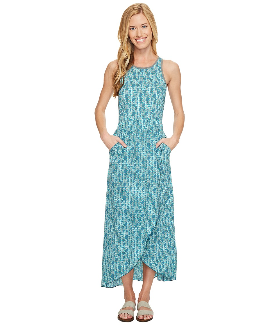 Toad&Co Sunkissed Maxi Dress (Turquoise Cove Vine Print) Women