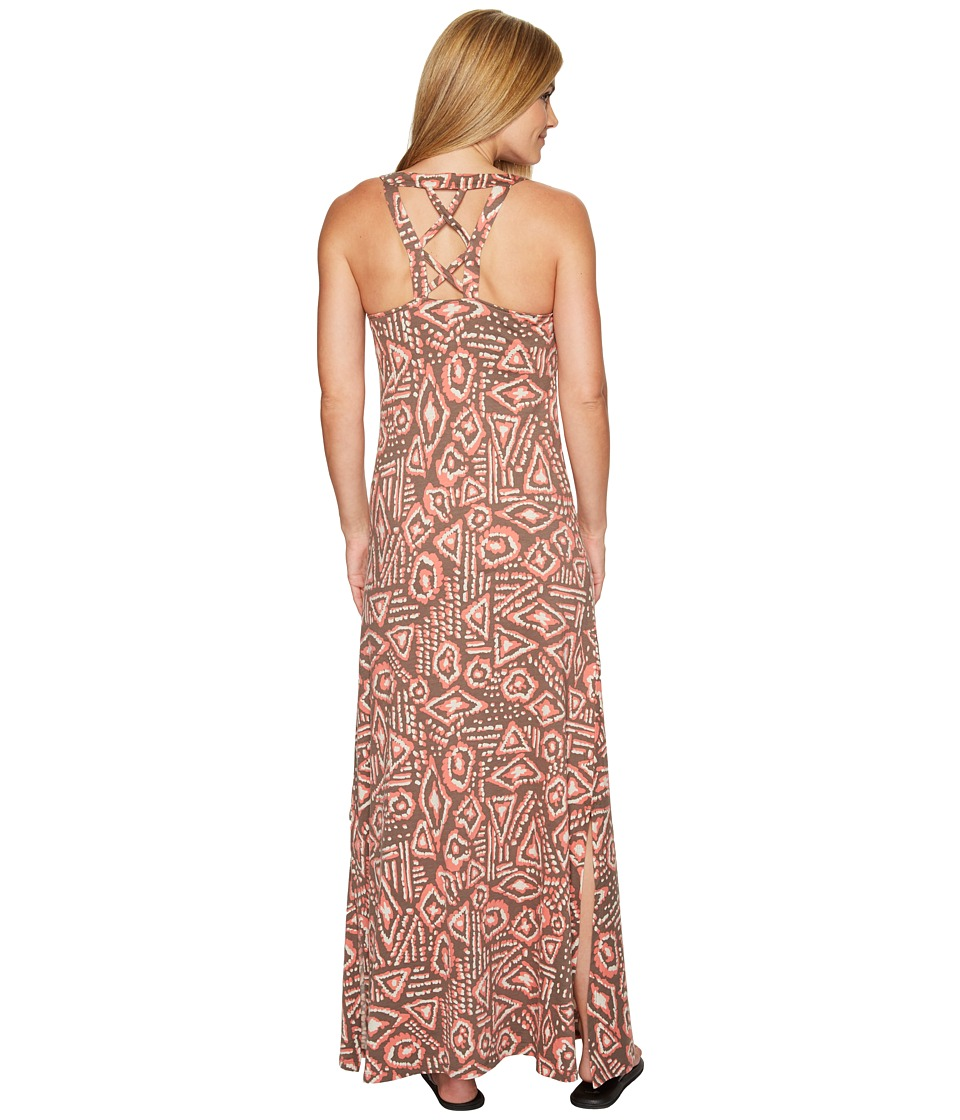 Toad&Co - Montauket Long Dress (Falcon Brown Brush Print) Women's Dress