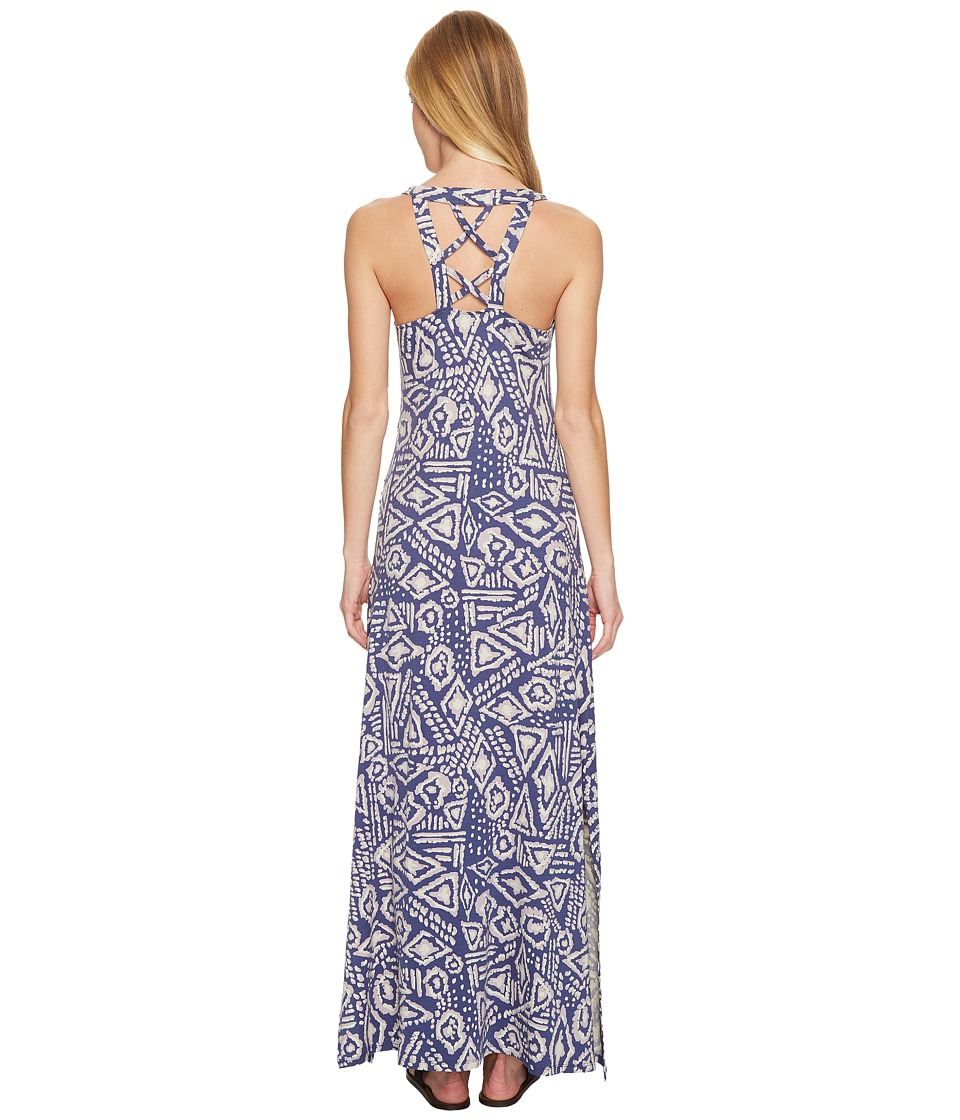 Toad&Co Montauket Long Dress (Indigo Brush Print) Women