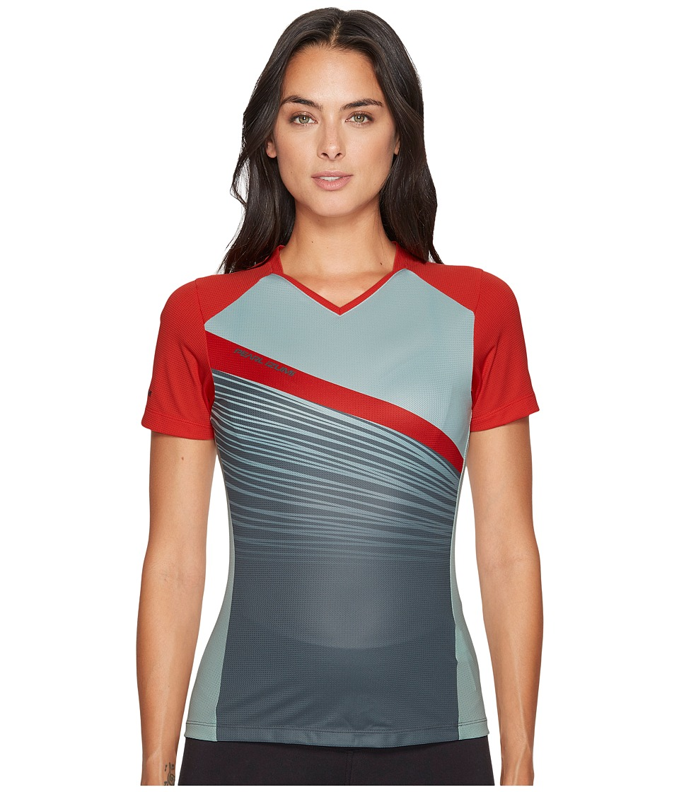 Pearl Izumi Launch Jersey (Poppy Red/Mist Green Fracture) Women