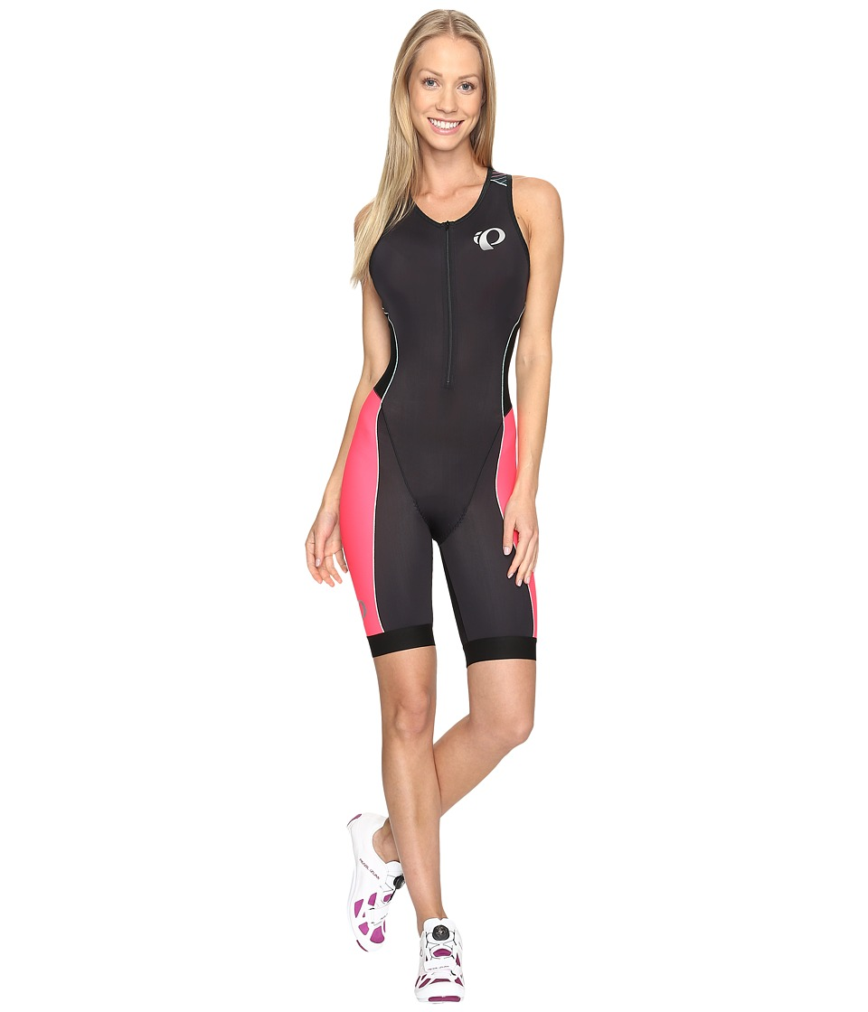 Pearl Izumi - Elite Pursuit Tri Suit (Black/Atomic Red Whirl) Women's Cycling Bibs One Piece