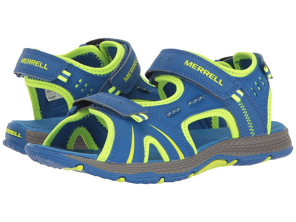 Merrell Kids Panther (Big Kid) (Blue/Citron) Boys Shoes