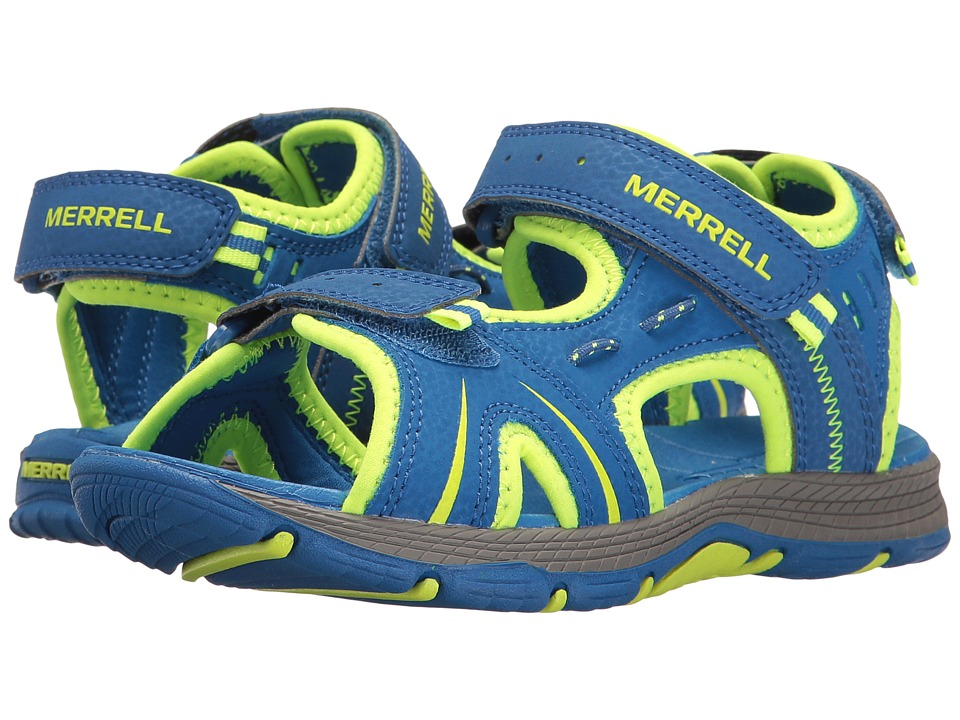 Merrell Kids Panther (Toddler/Little Kid) (Blue/Citron) Boys Shoes