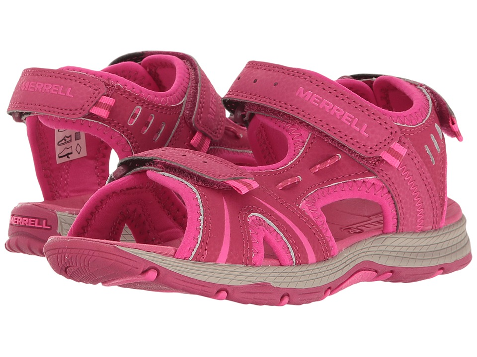 Merrell Kids Panther (Toddler/Little Kid) (Berry) Girls Shoes