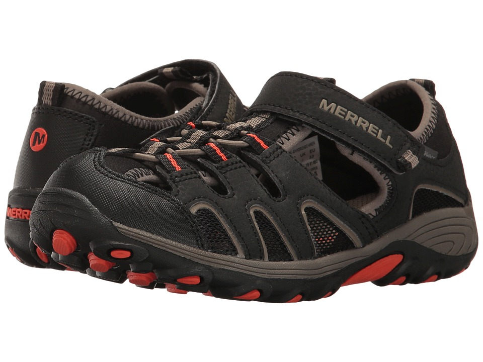 Merrell Kids - Hydro H2O Hiker Sandal (Toddler/Little Kid/Big Kid) (Black/Gunsmoke/Orange) Boy's Shoes