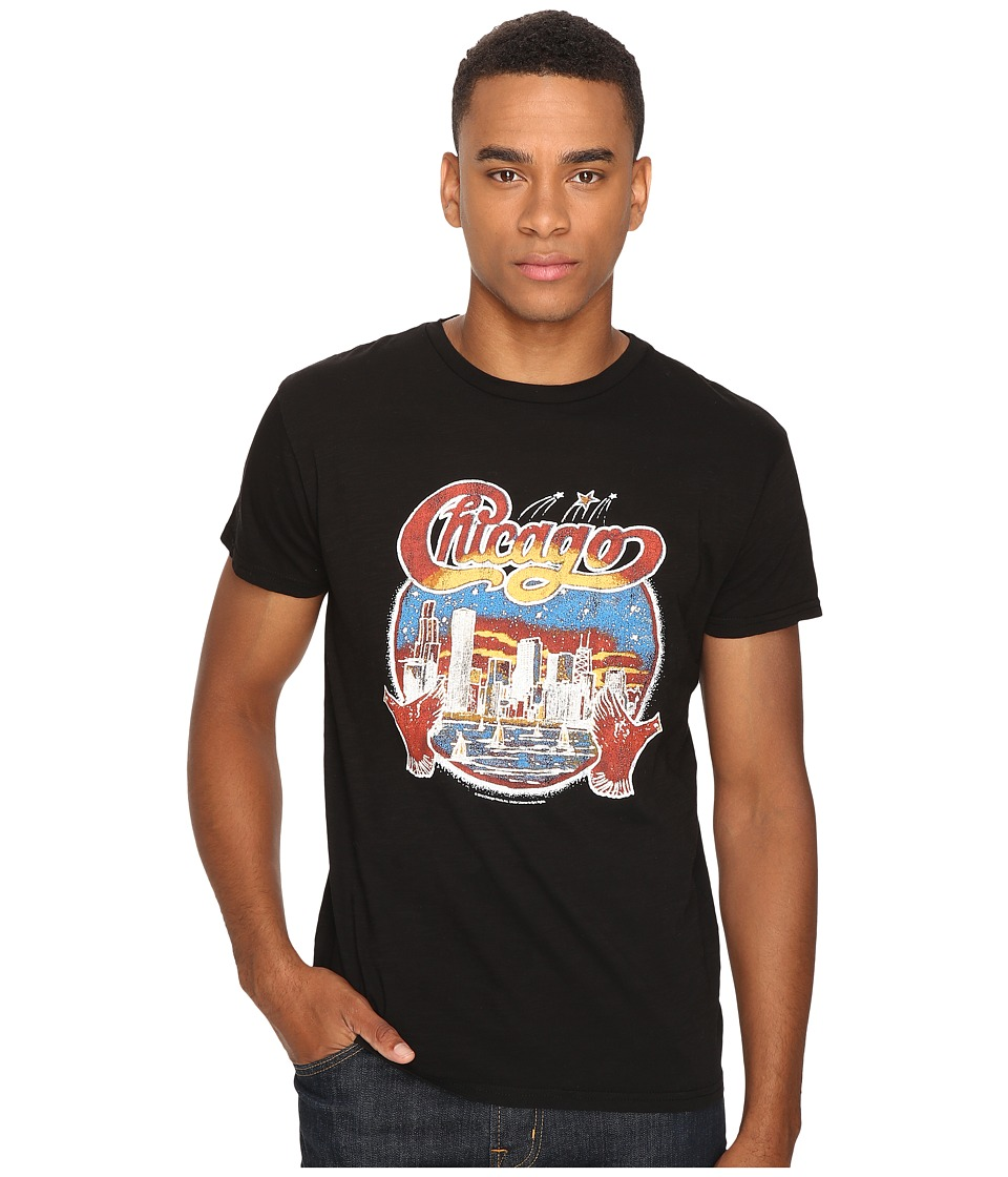 The Original Retro Brand - Short Sleeve Chicago Slub Tee (Black Slub) Men's T Shirt