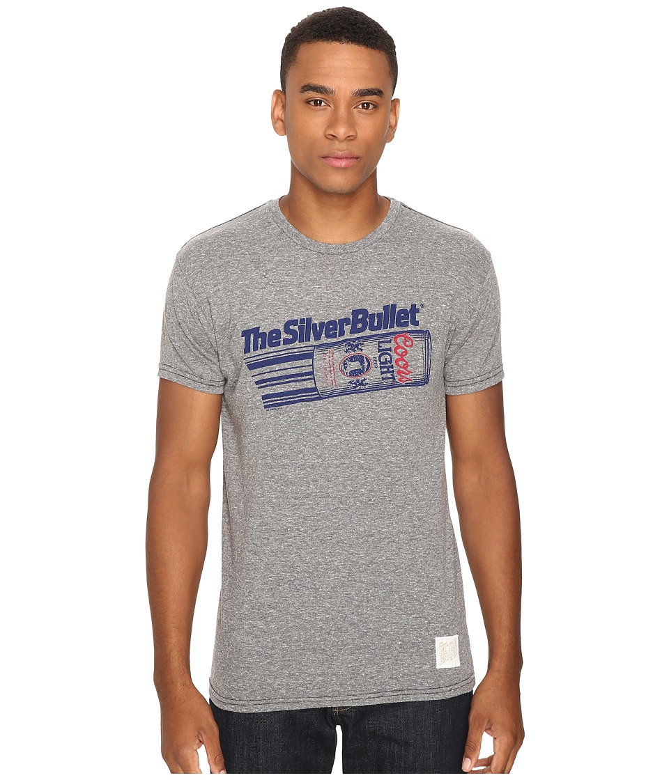 The Original Retro Brand - Short Sleeve Coors Silver Bullet Tri-Blend Tee (Streaky Grey) Men's T Shirt
