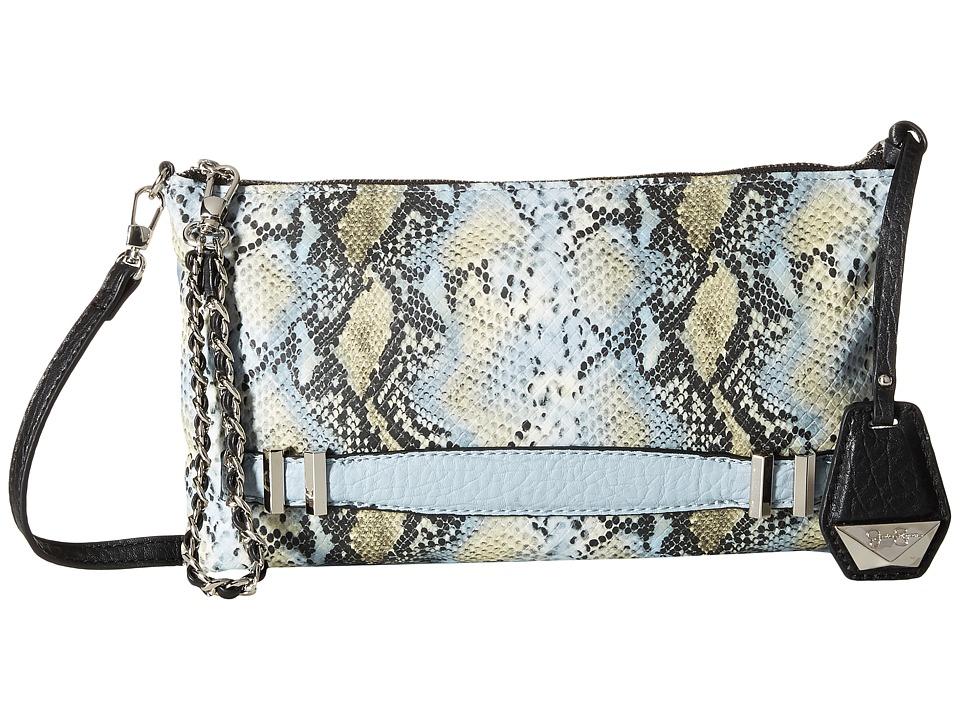 Jessica Simpson - Hanne Crossbody Clutch (Chambray/Snake Python) Clutch Handbags
