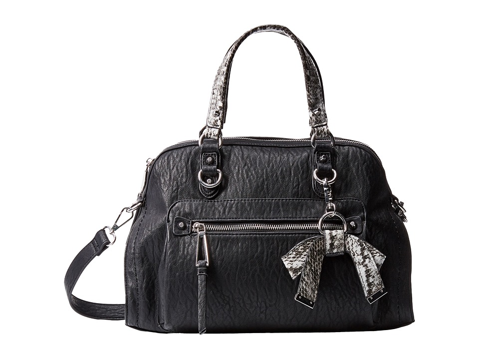 Jessica Simpson - Tatiana Satchel (Black/Grey Snake) Satchel Handbags