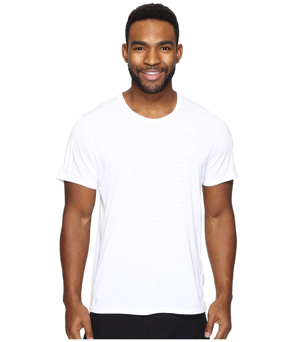 adidas Response Short Sleeve Tee (White) Men