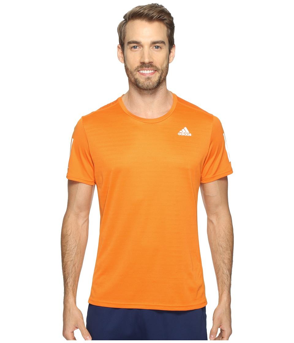 adidas - Response Short Sleeve Tee (Bright Orange) Men's T Shirt