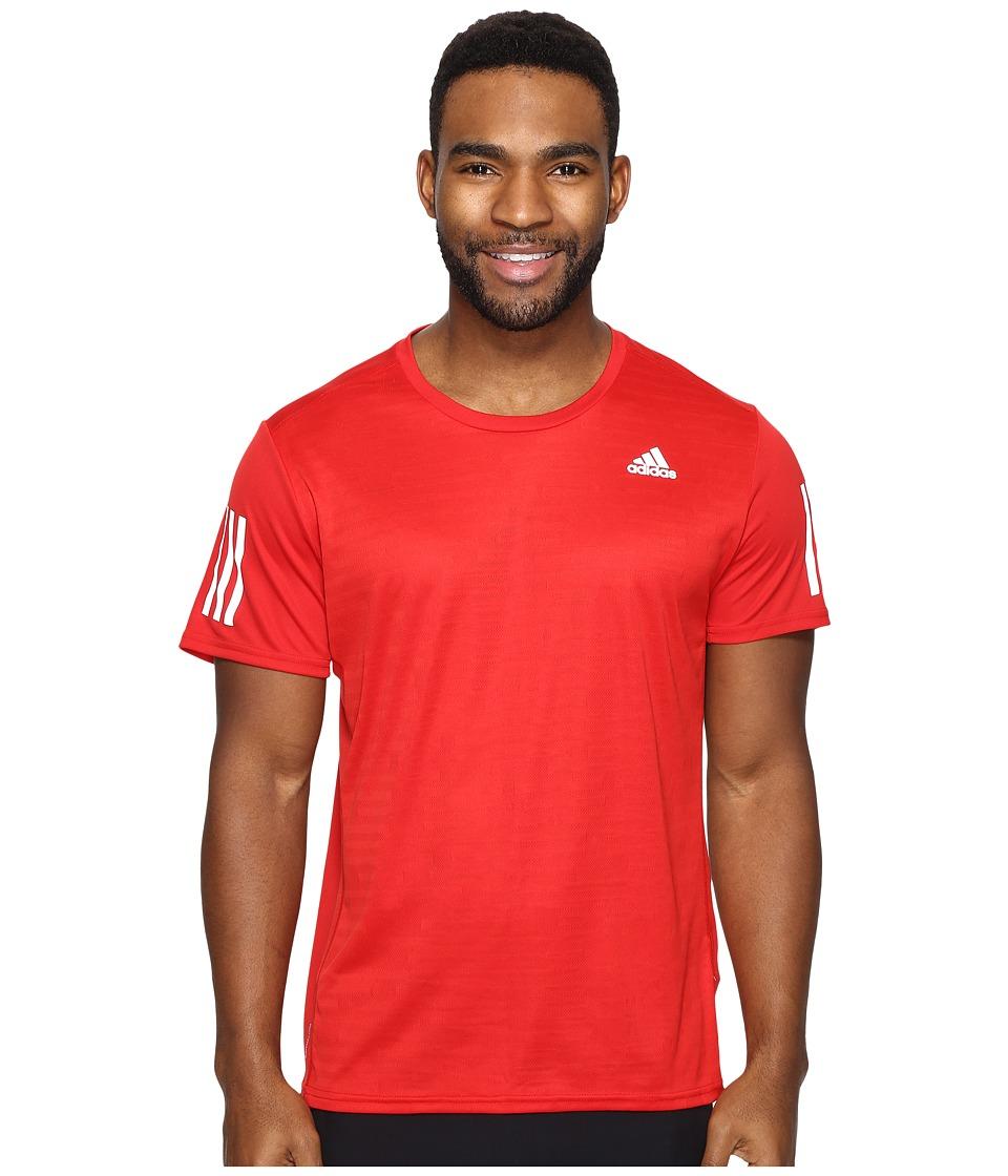adidas - Response Short Sleeve Tee (Scarlet) Men's T Shirt