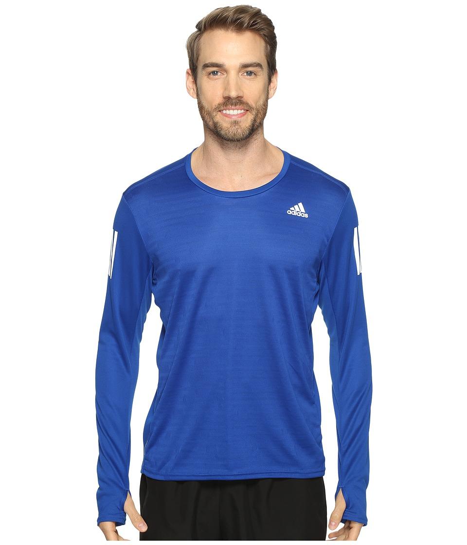 adidas - Response Long Sleeve Tee (Collegiate Royal) Men's Long Sleeve Pullover