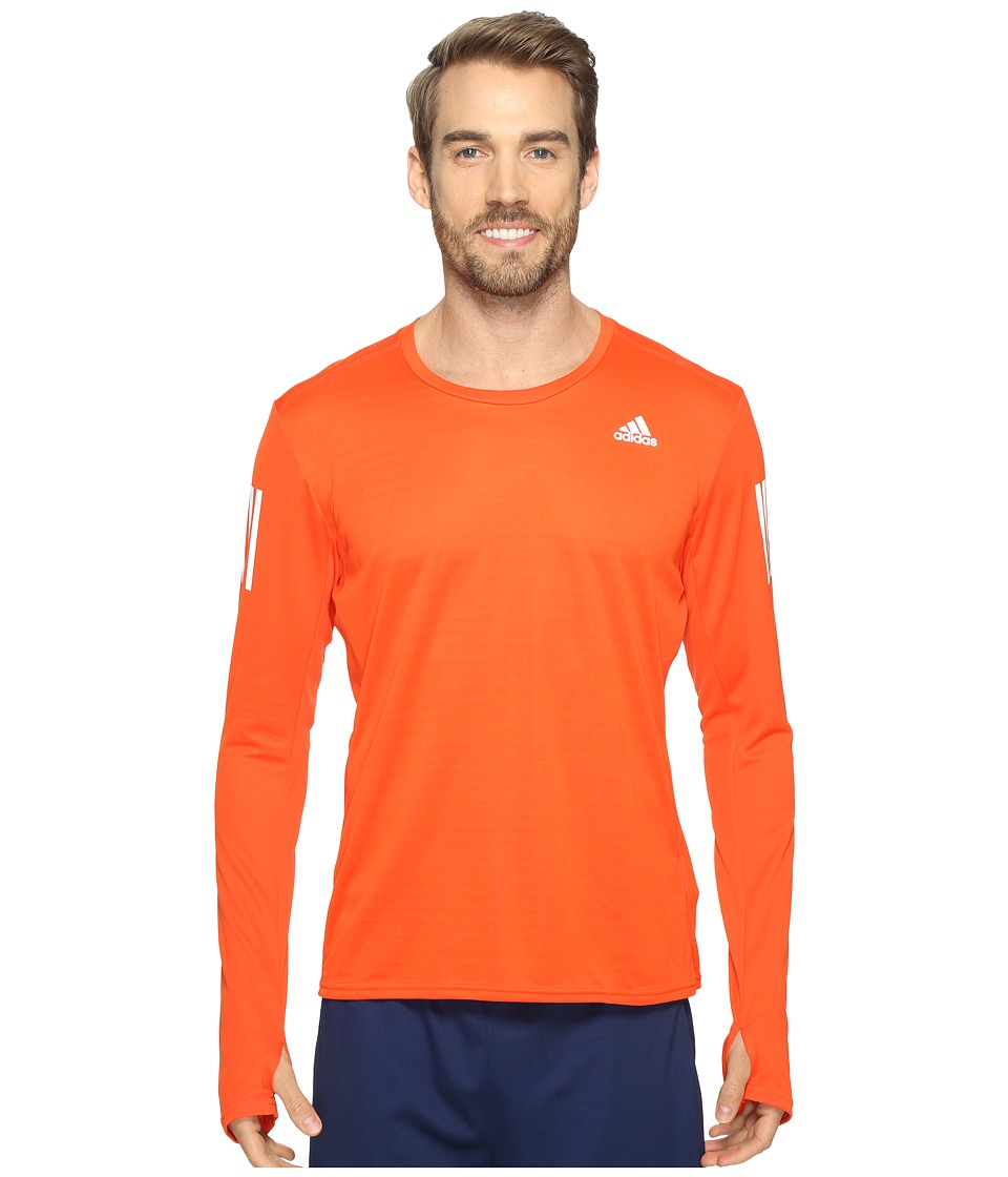 adidas - Response Long Sleeve Tee (Energy S17) Men's Long Sleeve Pullover